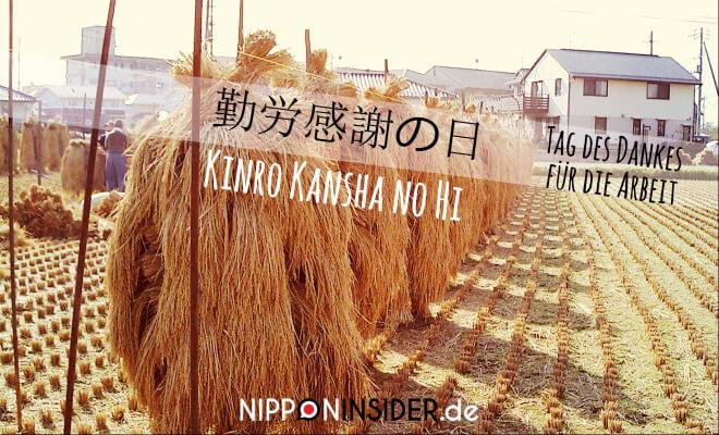 Japanischer Feiertag: Kinro Kansha no Hi am 23. November . Bild: Reisernte beim Trockenen auf dem Feld. Tag des Dankes für die Arbeit | Nipponinsider Japanblog