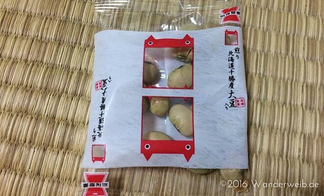 Tüte mit gerösteten Sojabohnen zum Setsubun no Hi