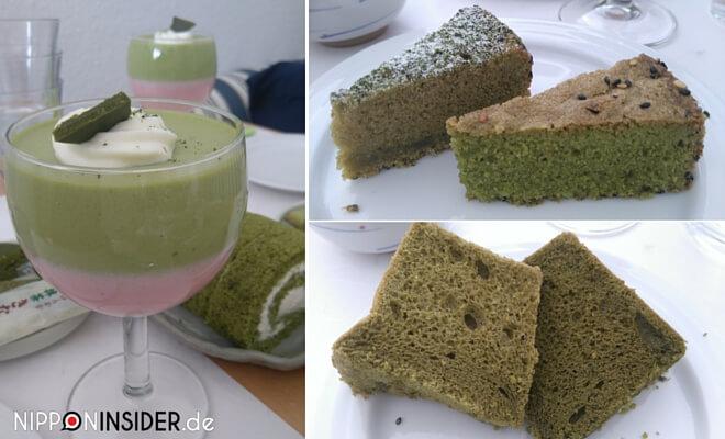 Matcha-Partisserie mit Desserts und Kuchen Auswahl | nipponinsider