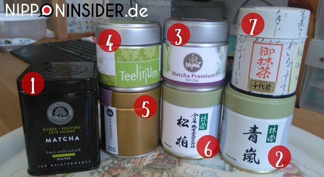 Matchaverkostung-Reihenfolge der Tees | nipponinsider