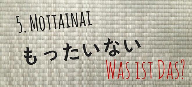 tatami: mottainai - was ist das? | Nipponinsider