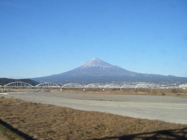 Foto: Fuji-San und Fujigawa mit der Shinkansen Brücke