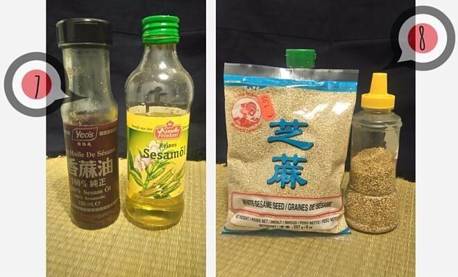 japanisch kochen mit Sesamöl und ungeröstetem und geröstetem Sesam (Bilder von den Flaschen und Packungen) | Nippon Insider