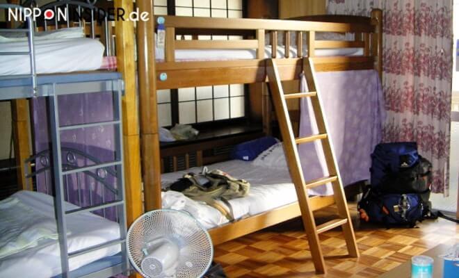 Etagenbett im Guesthouse / Minshuku in Naha auf Okinawa | Nipponinsider