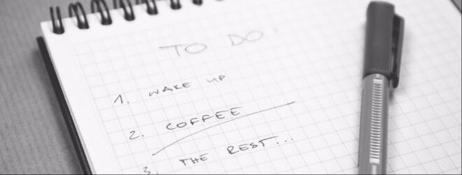 Dinge, die ich 2017 tun möchte. Bild: To Do Liste mit Stift