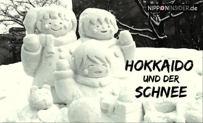 Sapporo Schneefestival Yukimatsuri - Bild einer Schneestatue und Text: Hokkaido und der Schnee   Nipponinsider Japanblog