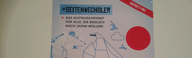 Poster von #seitenwechsler Austauschevent 2017 | Nipponinsider