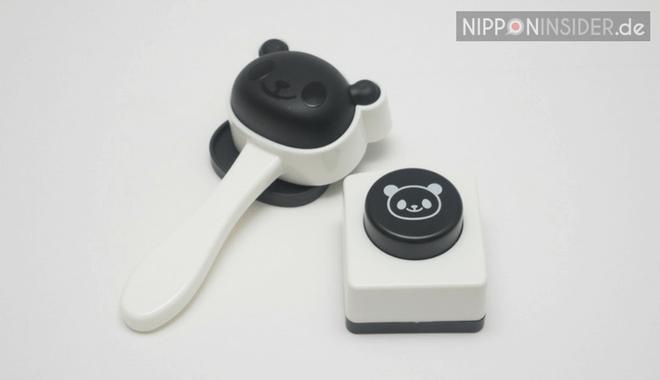 Das Panda-Onigiri-Set für die Charaben: Reispresse und Stanze