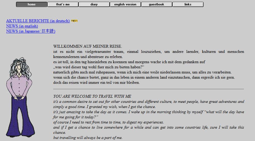 Startseite meiner alten Webseite daniela-worldwide