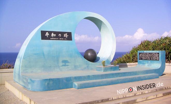 Heiwa no To am südlichen Zipfel von Okinawa Honto. Friedensmonument in Form einer Welle | Nipponinsider