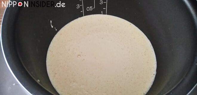 Japanischer Kuchen Teigmasse im Reiskocher | Nipponinsider