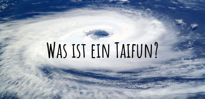 Was ist ein Taifun? Bild: ein Taifun entsteht auf dem Meer