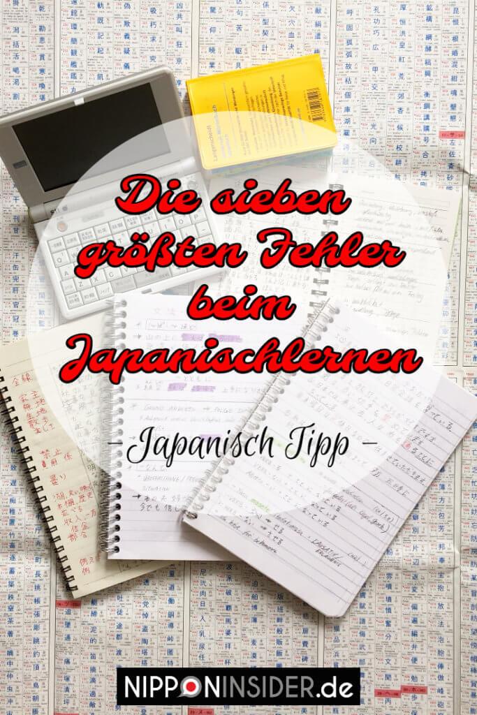 Japanisch Tipp: Die 7 größten Fehler beim Japanisch lerne | Nipponinsider Pinterest