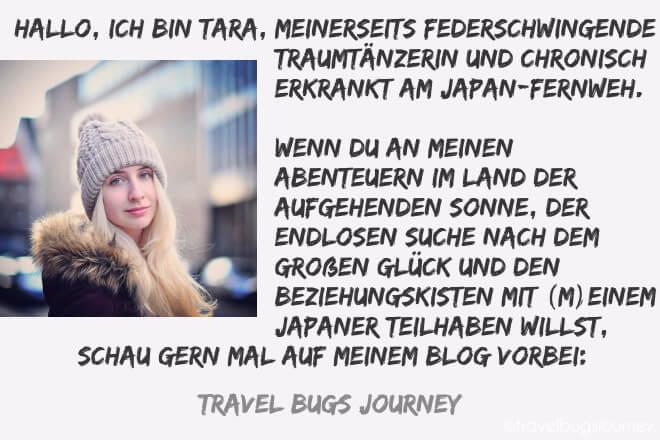 """Tara stellt sich vor. Artikel zum Thema """"Warum ich Japan liebe."""""""