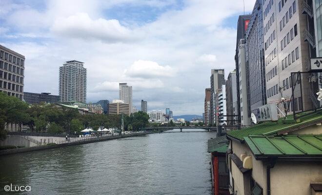 Osaka mit dem Ogawa im Vordergrund