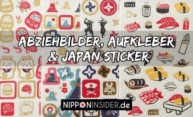 Abziehbilder, Aufkleber und Japan Sticker, Japanische Schreibwaren. Bild von Japan Aufklebern | Nipponinsider