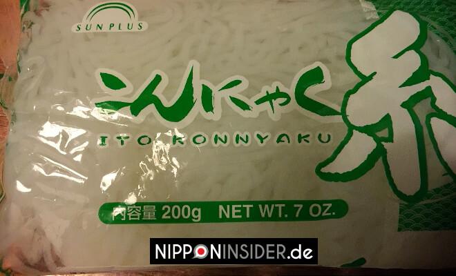 Shirataki Konnyaku Nudeln in einer Packung mit Wasser | Nipponinsider