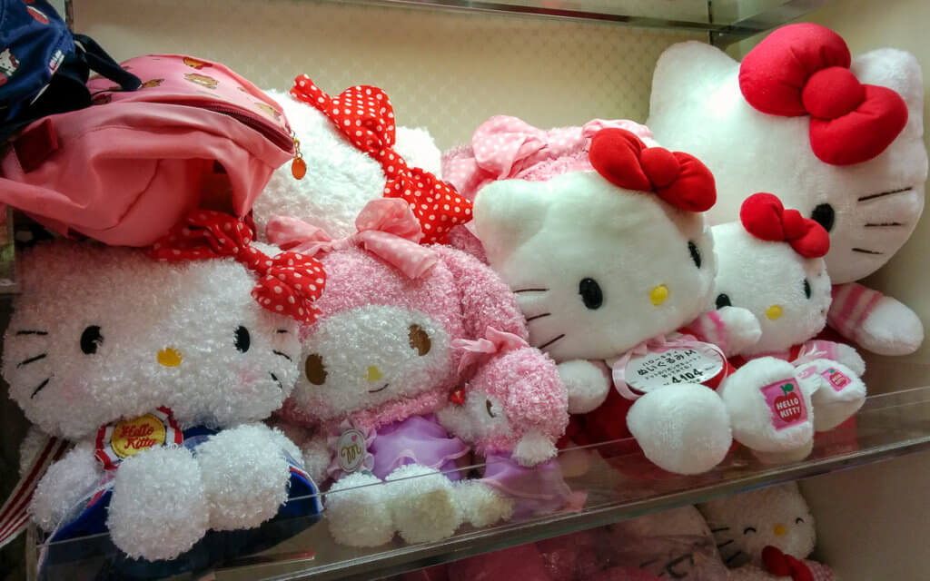 Hello Kitty Kuscheltiere in Japan