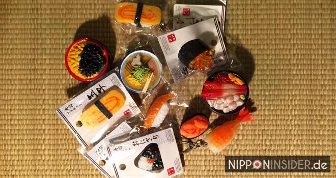 japanische Schlüsselanhänger und Kühlschrankmagneten in Sushiform und Essensnachbildungen | Nipponinsider