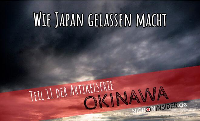 Wie Japan gelassen macht- Teil 11 der Artikelserie OKINAWA - Bild vom dunkelen Himmel | Nipponinsider