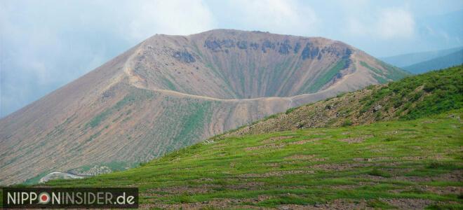 Blick in den Vulkankrater Azuma-Kofuji in Fukushima | Nipponinsider Japanblog