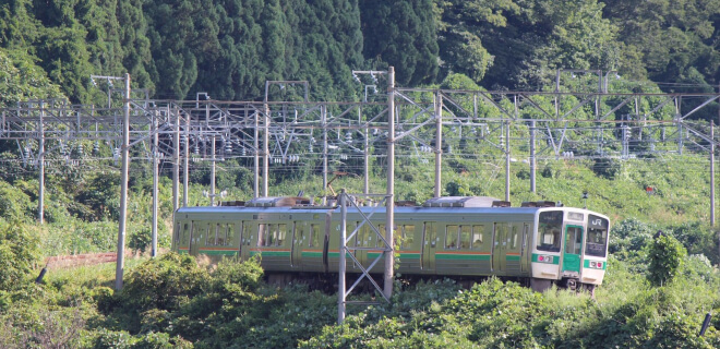 Regionaler Zug in Tohoku