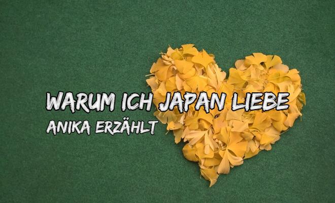 Warum ich Japan liebe. Anika erzählt. Bild von einem Herz aus gelben Ginkgoblättern | Gastartikel auf Nipponinsider Japanblog