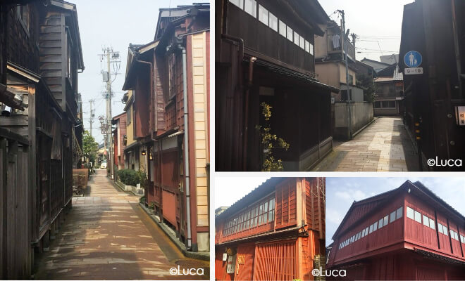 Kanazawa Altstadtviertel Higashi Chaya: Enge Gassen und alte Häuser