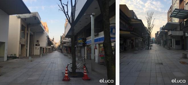 Kanazawa Innenstadt Menschenleer am Morgen