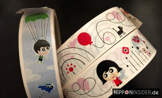 Dekoklebeband. Bedruckte Klebebandrollen | Nipponinsider