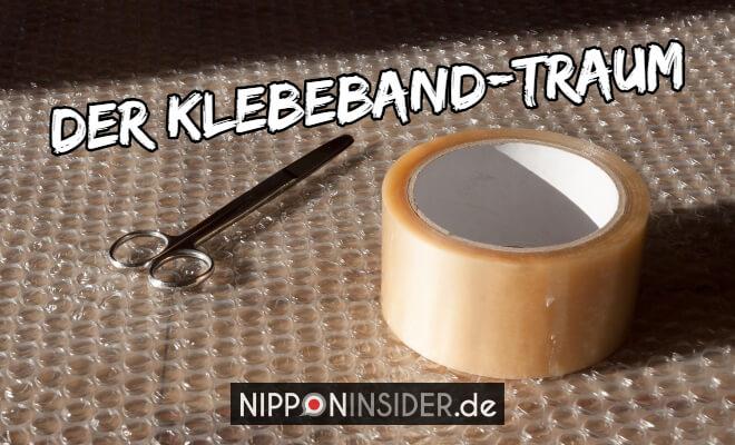 Der Klebebandtraum. Bild von einer Kleberolle und einer Schere | Nipponinsider