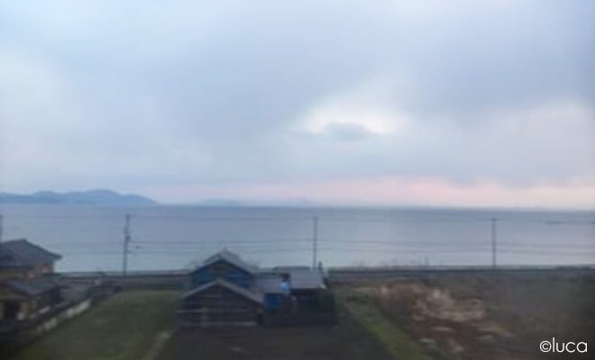 Der See Biwa - Biwako im Nebel