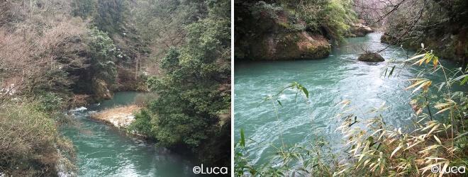Yamanaka Flussszene in der Schlucht