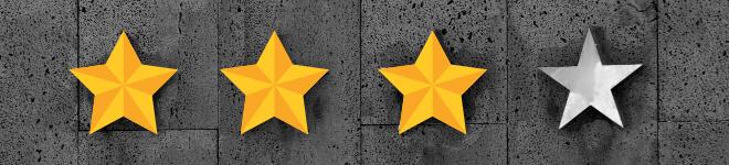 Schwierigkeitsstufe 3 three stars of Four Ranking
