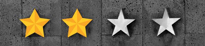 Schwierigkeitsstufe 2. two stars of Four Ranking