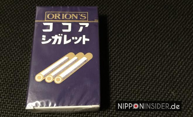 Japans nostalgische Süßigkeiten: Dagashi. Packung von Cocoa cigaretto | Nipponinsider Japanblog