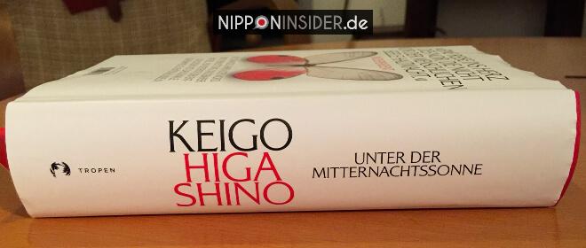 Unter der Mitternachtssonne von Keigo Higashino Buchvorstellung. Bild vom Buchrücken | Nipponinsider