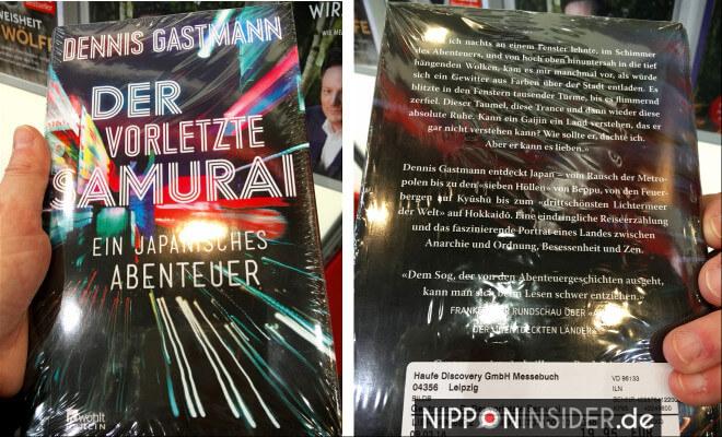Der vorletzte Samurai. Buchtitel von vorn und von hinten. Neuerscheinungen auf der Leipziger Buchmesse 2018 | Nipponinsider