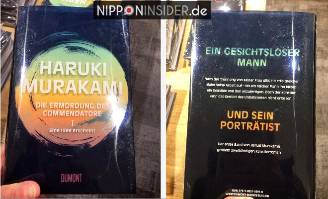 Die Ermordung des Commendatore. Buchtitel vorder und Rückseite. Neuerscheinungen auf der Leipziger Buchmesse 2018 | Nipponinsider
