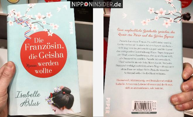 Die Französin die Geisha werden wollte. Buchtitel von vorn und von hinten. Neuerscheinungen auf der Leipziger Buchmesse 2018 | Nipponinsider