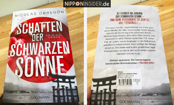 Schatten der schwarzen Sonne. Buchtitel von vorn und von hinten. Neuerscheinungen auf der Leipziger Buchmesse 2018 | Nipponinsider