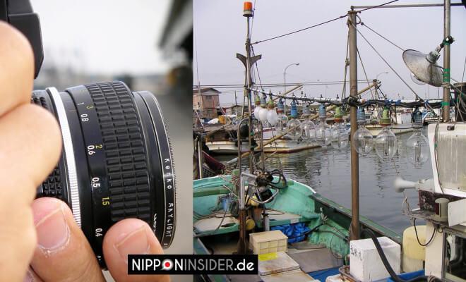 Unsere Flitterwochen. Japanischer Hafen mit alten Fischerboten in Miyagi. Kamera vom Fotografen | Nipponinsider