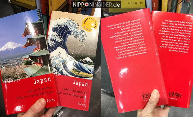 Japan Reportagen. Zwei Buchtitel mit Vorder- und Rückseite auf der Leipziger Buchmesse 2018 | Nipponinsider
