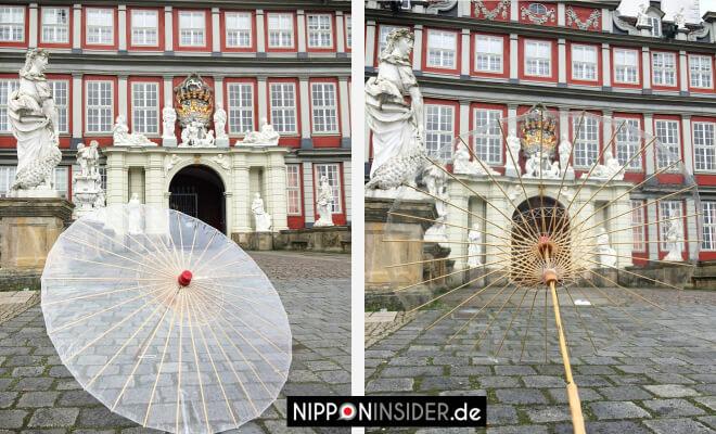 Das Schloss in Wolfenbüttel mit einem Hauch Japan, Japanischer Regenschirm | Nipponinsider