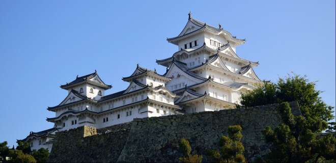 Himeji, japanische Burg. Shiro no Hi am 6. April, Tag der Burg