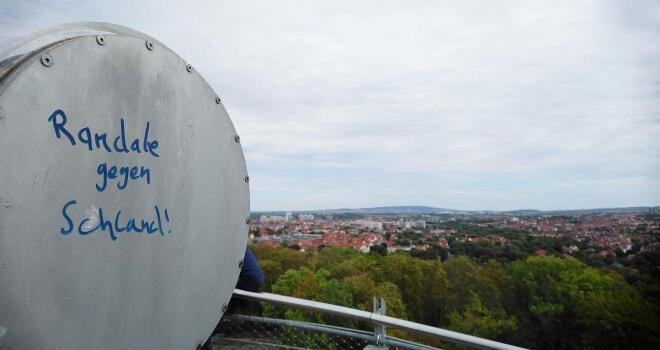 Blick auf Erfurt vom Ega Park