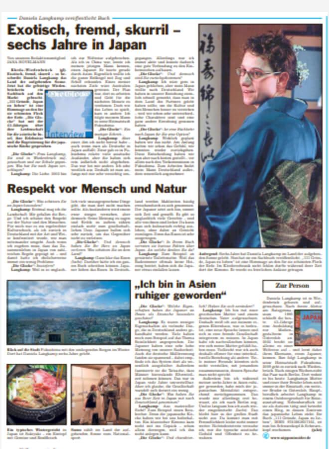 Zeitungsinterview vom 17.11.2018 in der Glocke